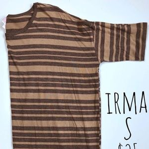 """Small Striped High-Low """"Irma"""" Top by LuLaRoe"""